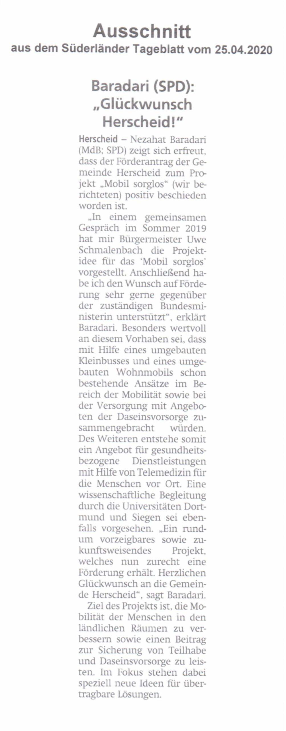 Bild Süderländer Tageblatt Glückwunsch Baradari